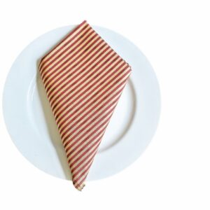 Supreme Accents Burgundy and Gold Stripe Napkin