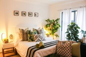 Supreme Accents Decorate for Healthy Living – Interior Decorating with House Plants - Bedroom Oasis with Plants