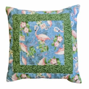 Supreme Accents Flamingo Green 18 inch Pillow