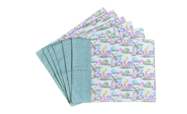 Supreme Accents Happy Easter Place Mat Set of 6 Green