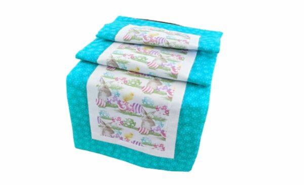 Supreme Accents Happy Easter Table Runner Teal 51 inch