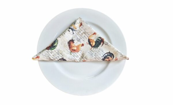 Supreme Accents Hens and Rooster Napkin
