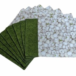 Supreme Accents Garlic Green Place mat Set of 8