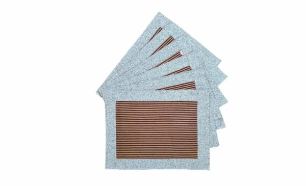 Supreme Accents Gold and Burgundy Stripe Place mat Set of 6