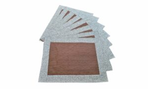 Supreme Accents Gold and Burgundy Stripe Place mat Set of 8