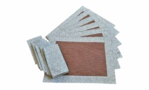 Supreme Accents Gold and Burgundy Stripe Place mat and Napkin Set of 6