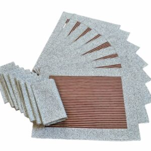 Supreme Accents Gold and Burgundy Stripe Place mat and Napkin Set of 8