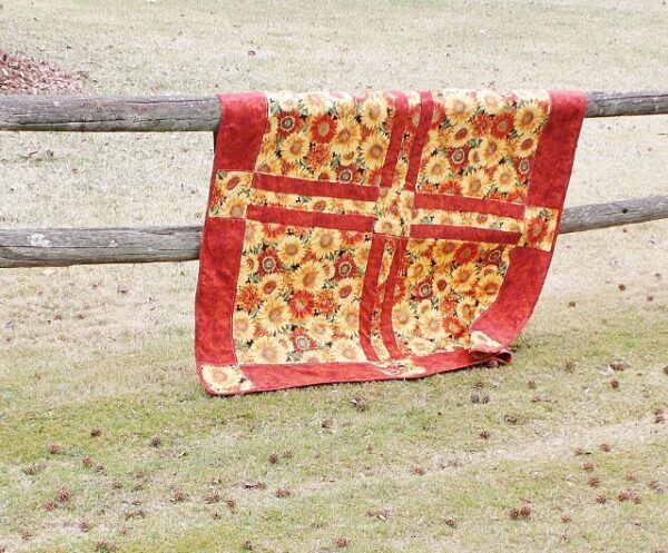 Supreme Accents Sunny Flowers Quilted Throw