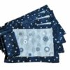 Supreme Accents Winter Snow Place mat and Napkins Set of 4
