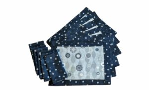 Supreme Accents Winter Snow Place mat and Napkins Set of 6