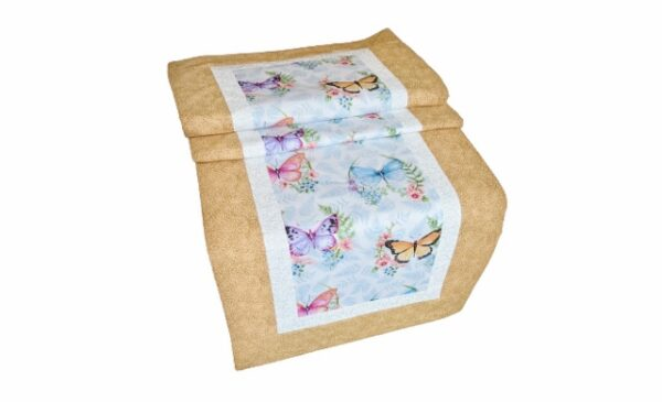 Supreme Accents Whispering Butterflies Sunny Table Runner 51 inches
