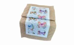 Supreme Accents Whispering Butterflies Tan Table Runner 38 inches