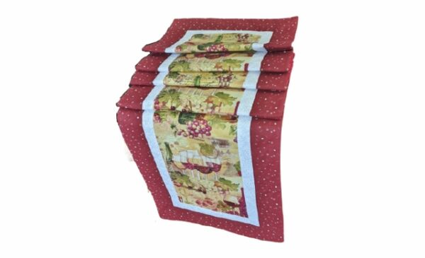 Supreme Accents Wine Time Burgundy Table Runner 71 inche