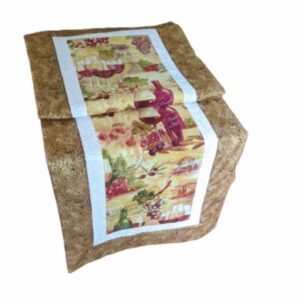 Supreme Accents Wine Time Golden Brown Table Runner 51 inches