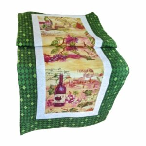 Supreme Accents Wine Time Juniper Green Table Runner 51 inches