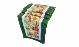 Supreme Accents Wine Time Juniper Green Table Runner 71 inches