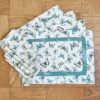Supreme Accents Fluttering Butterflies Place mat and Napkin Set of 4