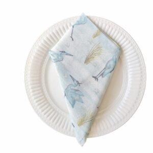 Supreme Accents Blue Herons Napkin