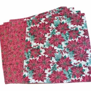Supreme Accents Classic Poinsettia Placemat Set of 4
