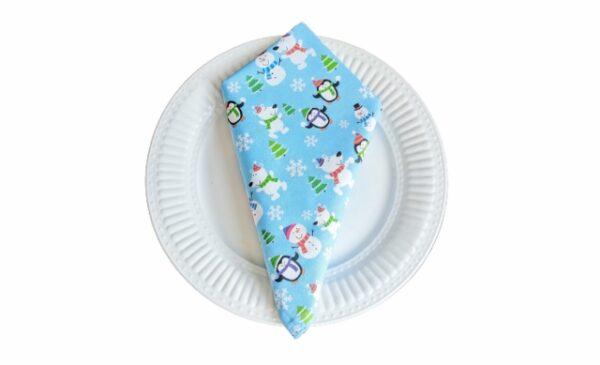 Supreme Accents Snowman and Friends Cotton Napkin