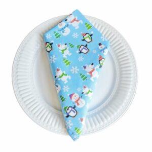 Supreme Accents Penguin Buddies Cotton Napkin