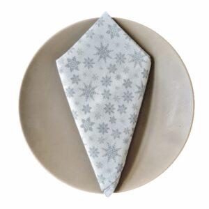 Supreme Accents Silver Snowflake Napkin