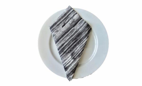 Supreme Accents Black and White Stripe Napkin
