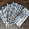 Supreme Accents Black and White Stripe Napkin Set of 6