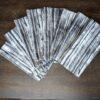 Supreme Accents Black and White Stripe Napkin Set of 8
