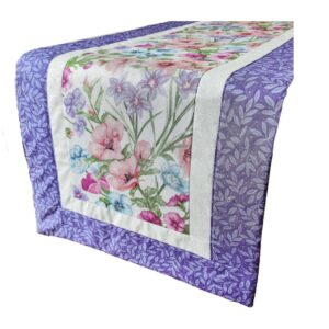 Supreme AccentsBlooming Flowers Heather Table Runner 38 inches