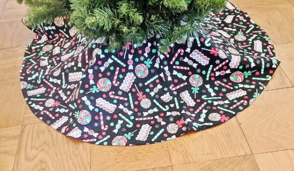 Supreme Accents Christmas Candy Tree Skirt 46 inches