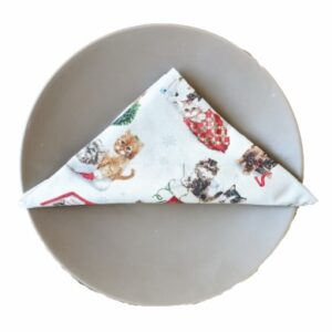 Supreme Accents Christmas Cats Napkin