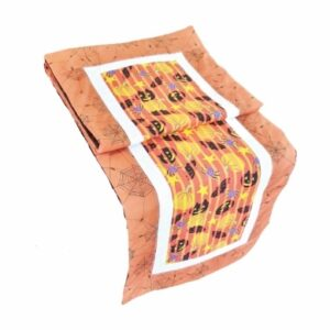 Supreme Accents Halloween Happiness Orange Table Runner 51 inches