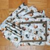 Supreme Accents Hens and Roosters Quilted Place mat and Napkin Set of 4