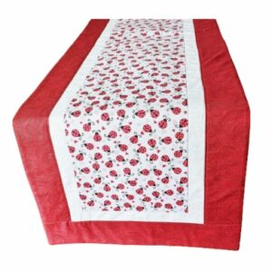 Supreme Accents LadyBug Love Cherry Red 51 inches Long Table Runner