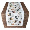 Supreme Accents Rooster Table Runner Hickory Brown 51 inch