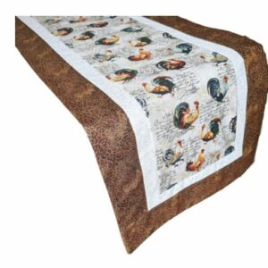 Supreme Accents Rooster Table Runner Hickory Brown 71 inch
