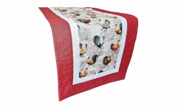 Supreme Accents Rooster Table Runner Red 71 inch