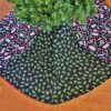 Supreme Accents Candy & Holly Christmas Tree Skirt 48 inches