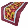 Supreme Accents Falling Leaves Brick Red Table Runner 38 inches