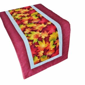 Supreme Accents Falling Leaves Brick Red Table Runner 71 inches