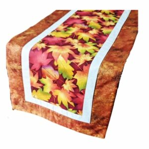Supreme Accents Falling Leaves Rust Table Runner 38 inches