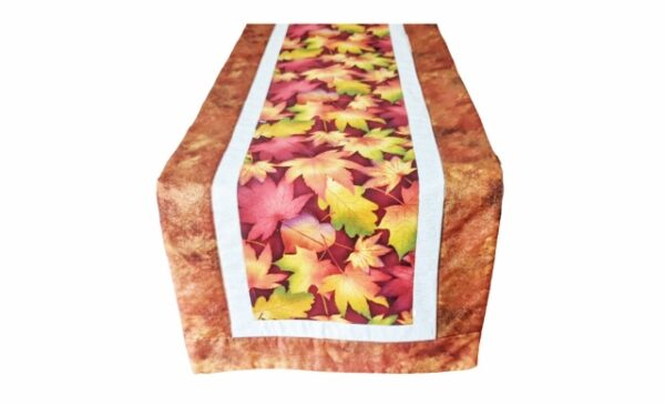 Supreme Accents Falling Leaves Rust Table Runner 51 inches