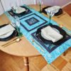 Supreme Accents Glory Teal Table Runner 44 Inches