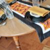 Supreme Accents Halloween Happiness Black Table Runner 51 inches