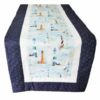 Supreme Accents Lighthouse Table Runner Dk Blue 51 inch