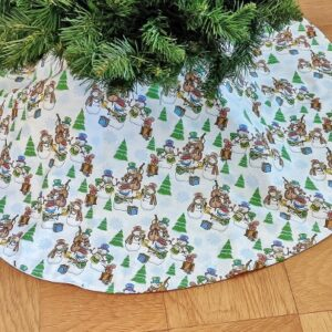 Supreme Accents Snow Man Band 46 inch Tree Skirt