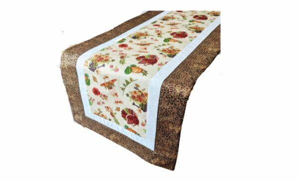 Supreme Accents Thanksgiving Brown Table Runner 38 inches