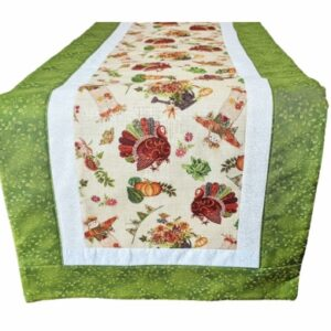 Supreme Accents Thanksgiving Green Table Runner 51 inches