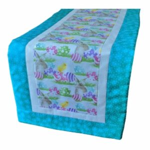 Supreme Accents Happy Easter Table Runner Teal 38 inch